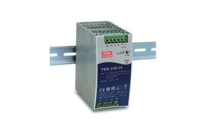 MEAN WELL predstavlja nov napajalnik v seriji trifaznih napajalnikov za DIN letev model TDR-240
